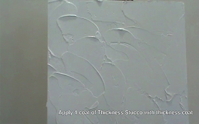 Thickness Stucco